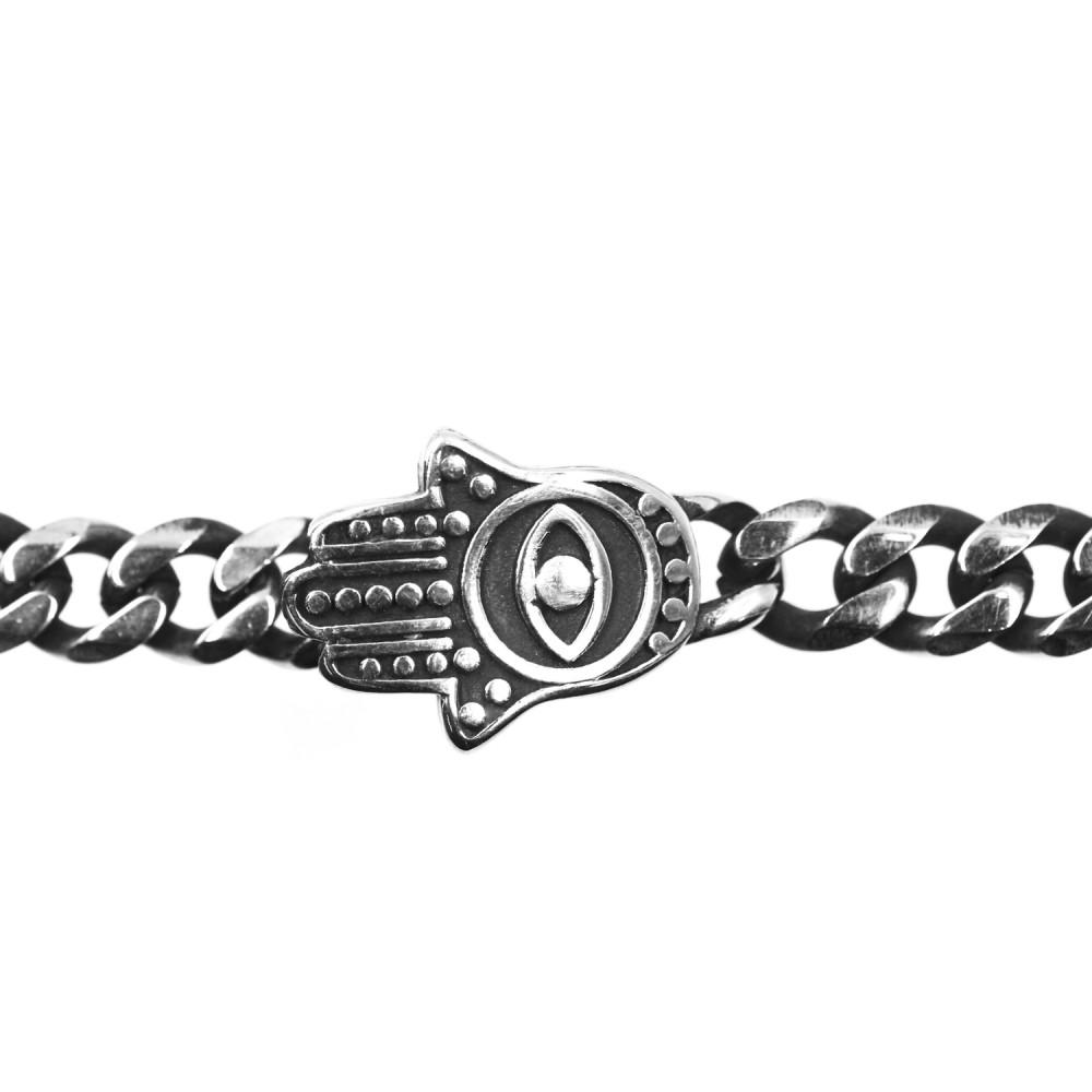 Bracelet Hamsa Chain in Steel