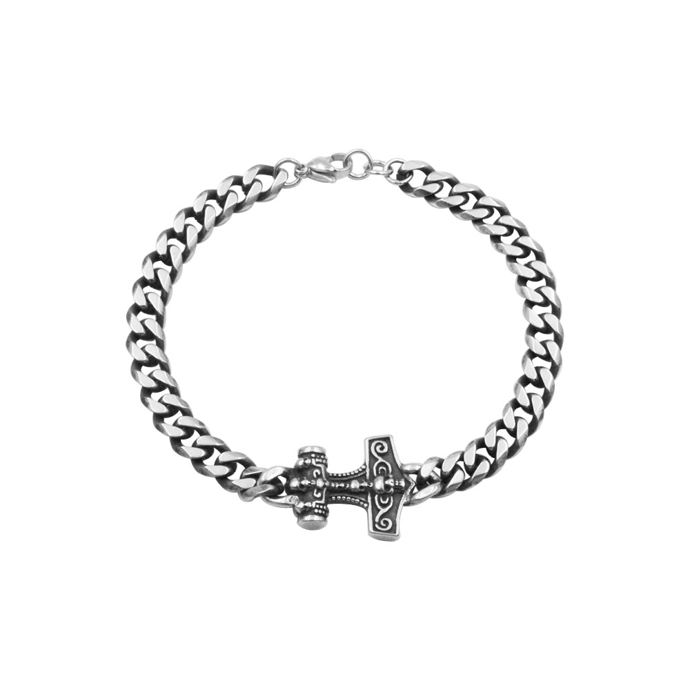 Steel Bracelet with Anchor