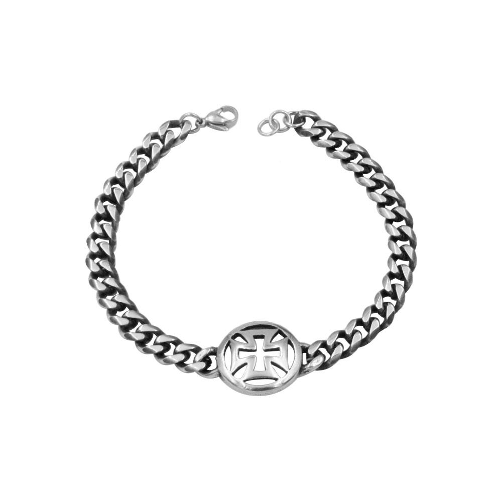 Steel Bracelet with Crossing