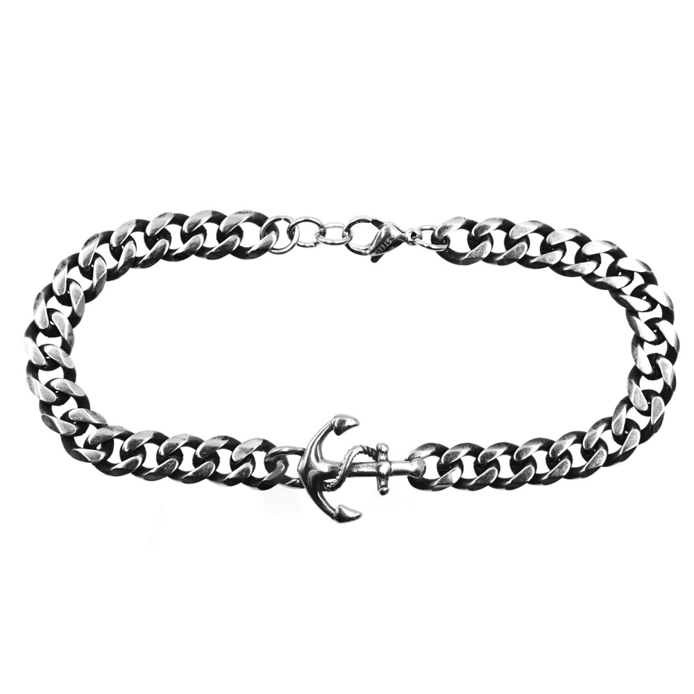 Bracelet  Anchor Chain in Steel
