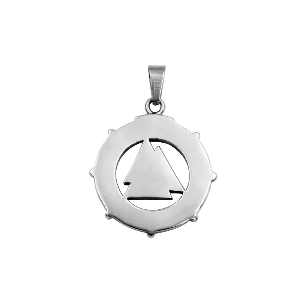 Pendant of Circle with Triangles