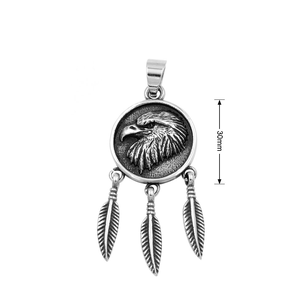 Pendant Emblem of Eagle with Feather