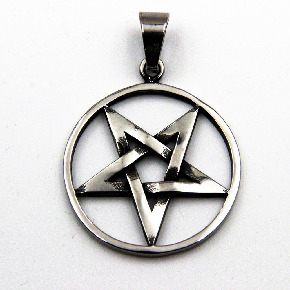 Pendant with 5-pointed circle and Pentagram Star
