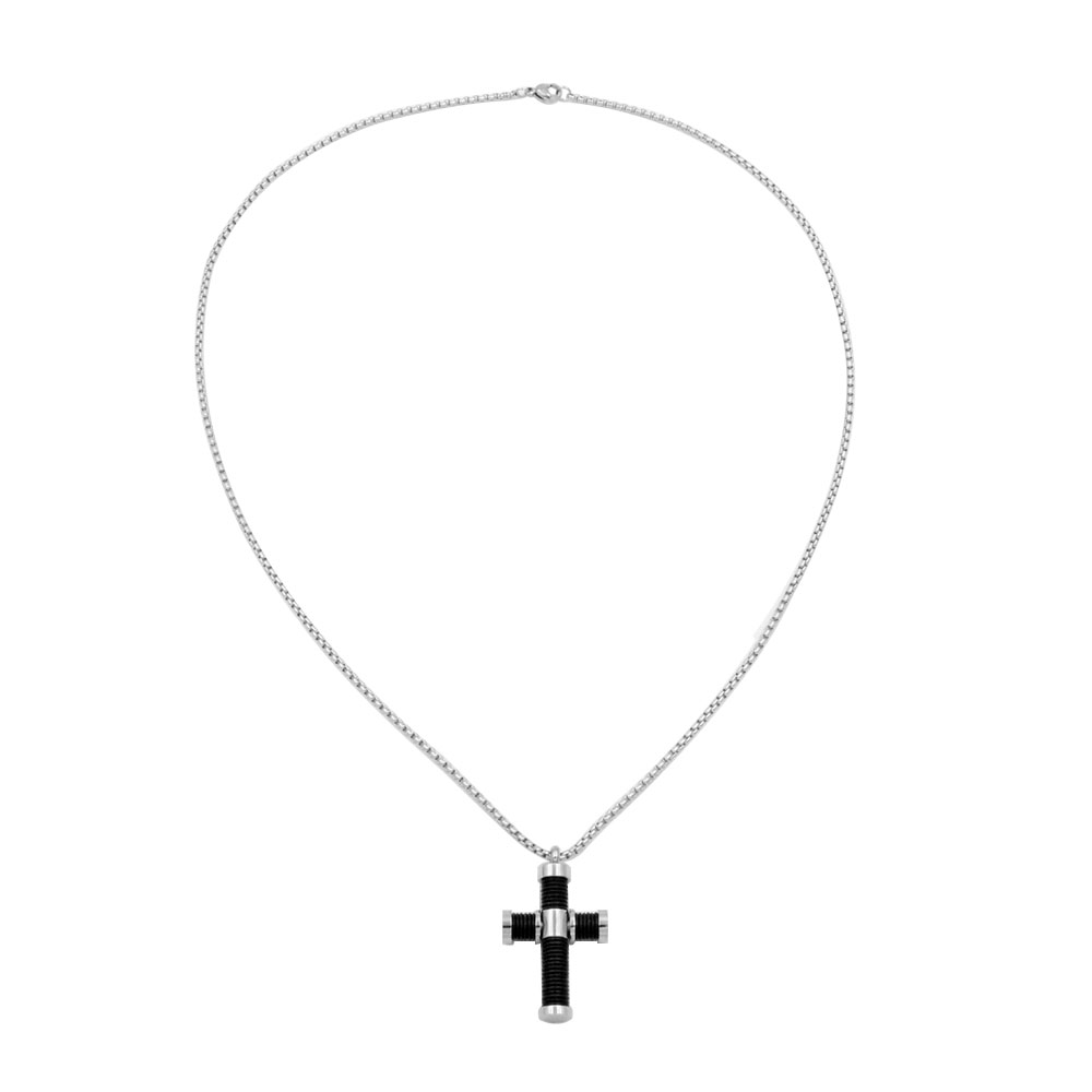 Cremation cross pendant necklace Stainless steel