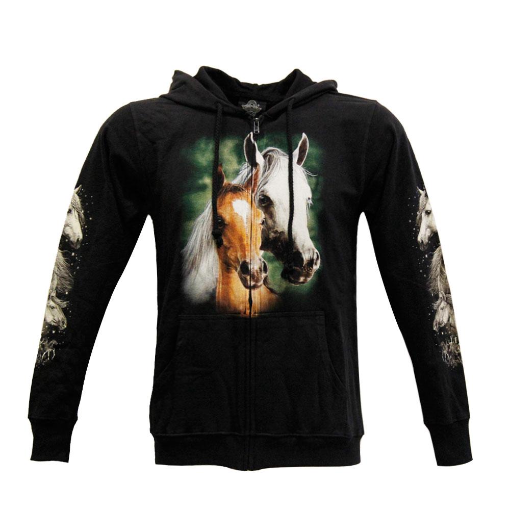 Hoodie with 2 Horses