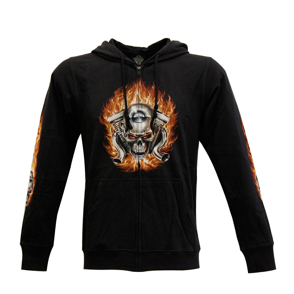 Hoodie with Skull Design