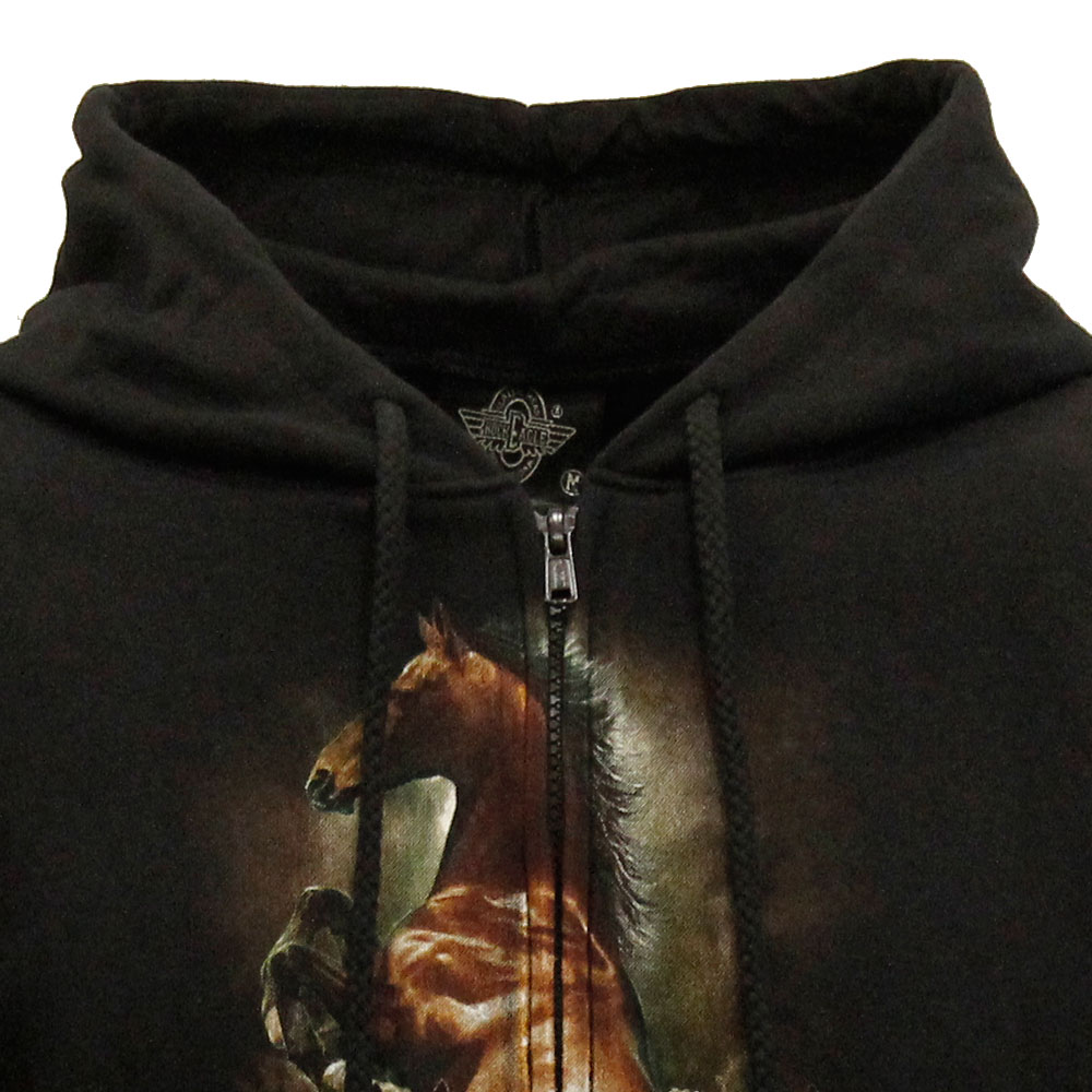 Hoodie with Horse Design