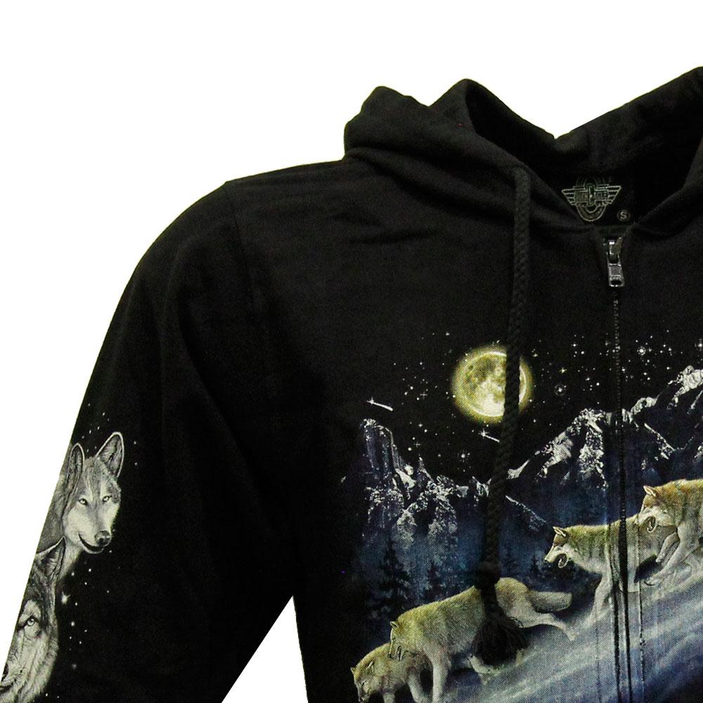 Hoodie of Wolf Design