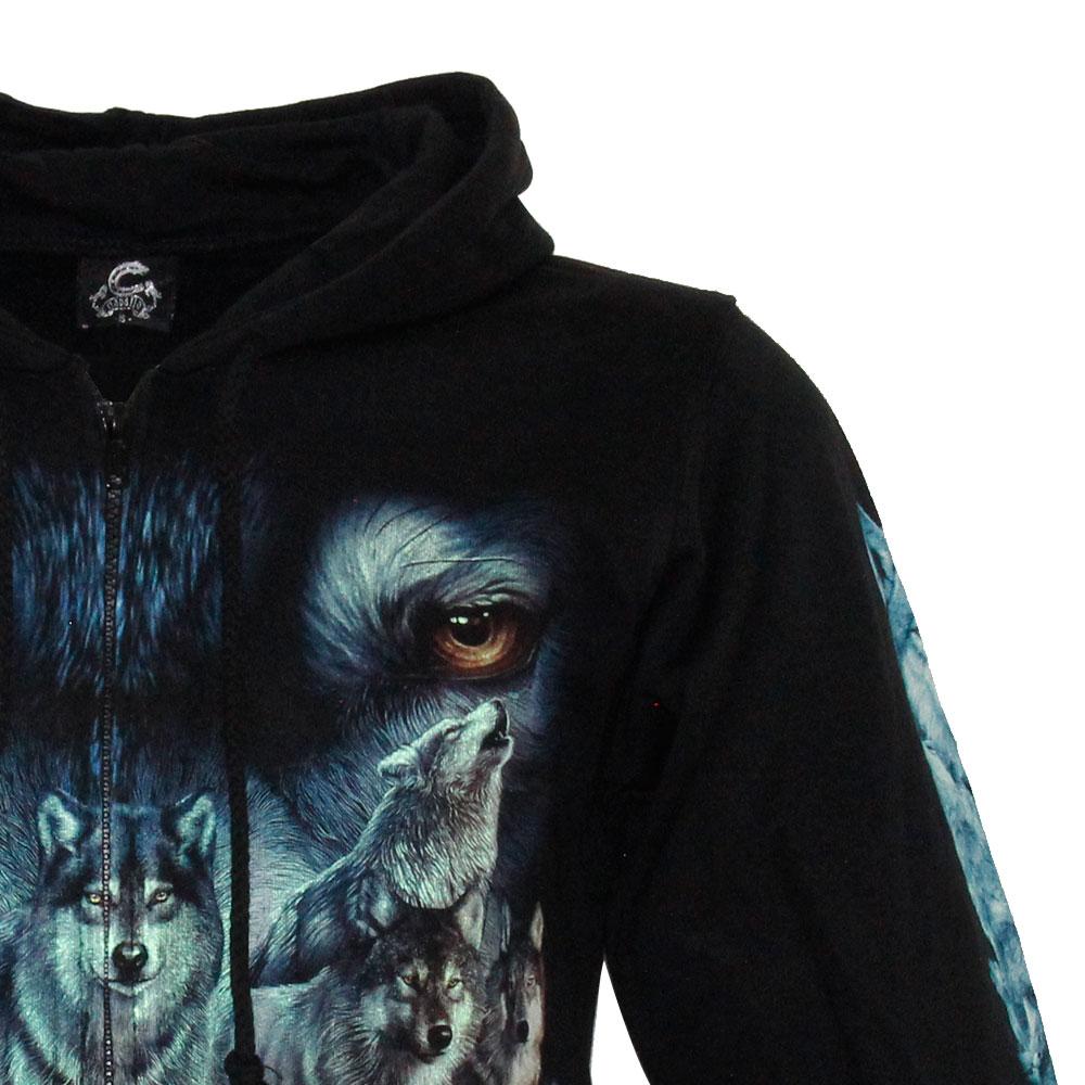 Hoodie Wolf Glow in the Dark