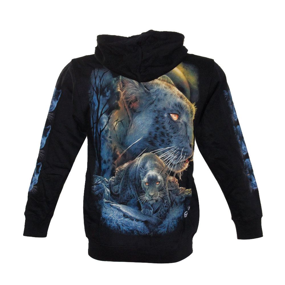 Hoodie with Leopard Glow in the Dark