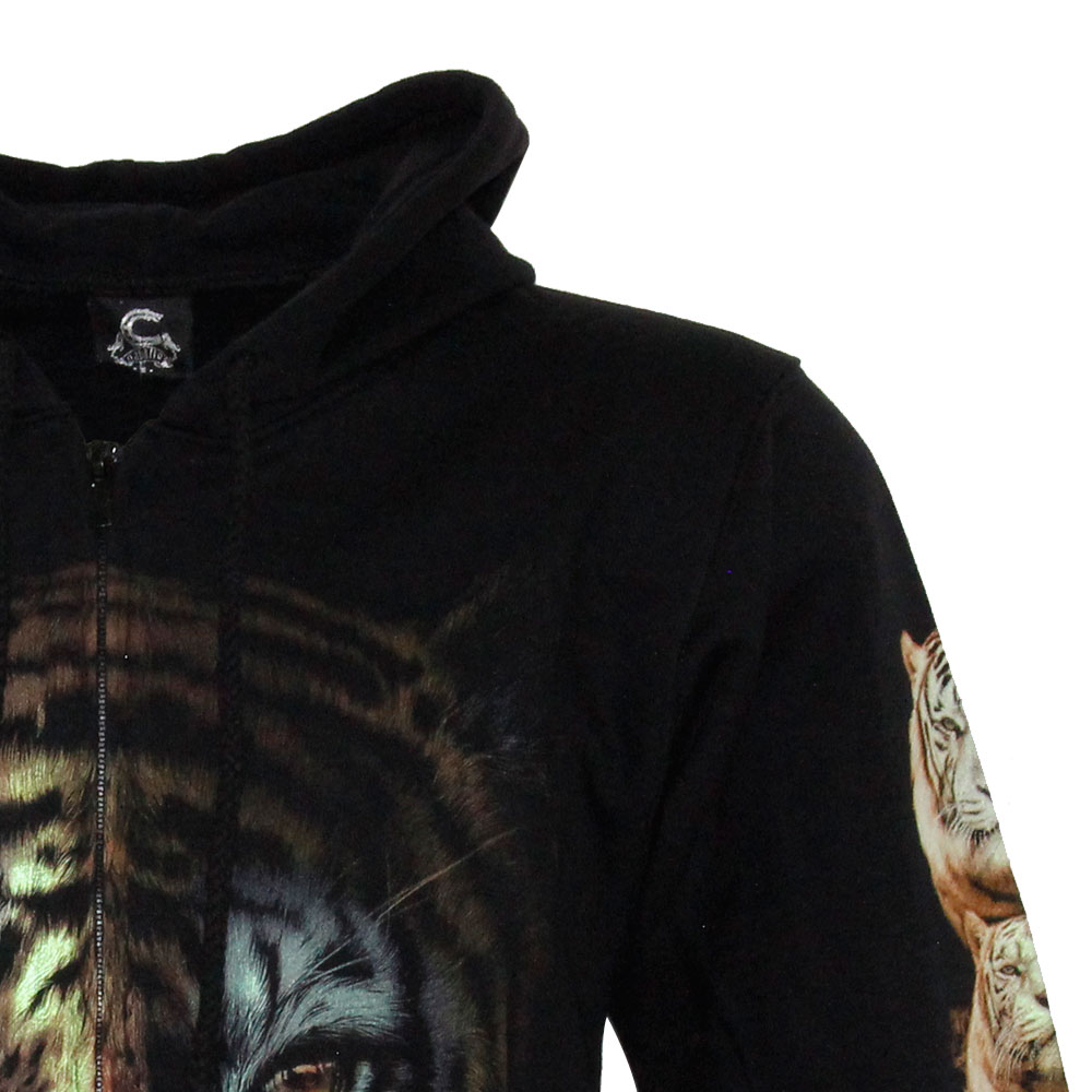 Hoodie with Hat Noctilucent of Tiger Design