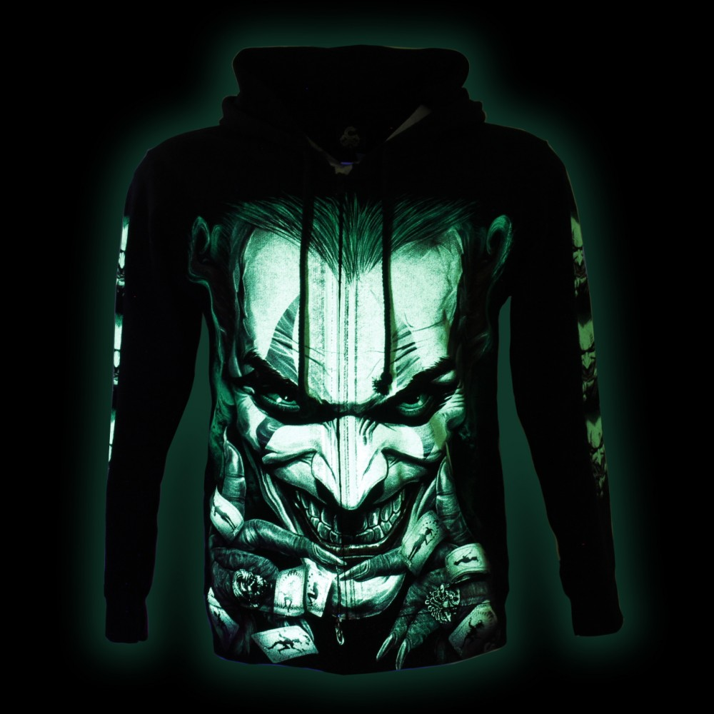 Hoodie with clown Glow in the Dark
