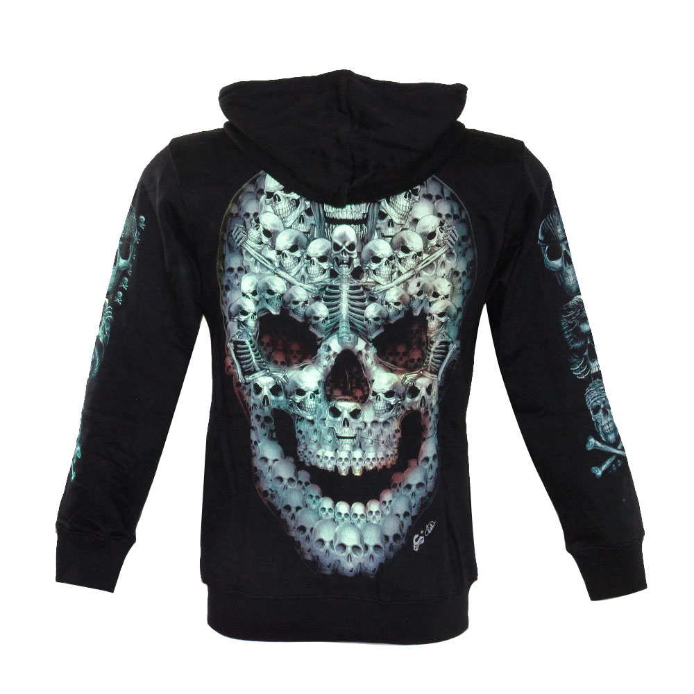 Hoodie with Skull Glow in the Dark