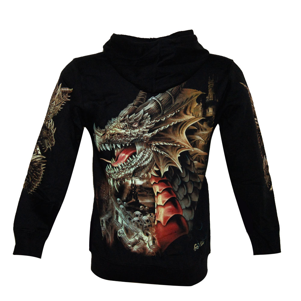 Hoodie with Dragon Glow in the Dark