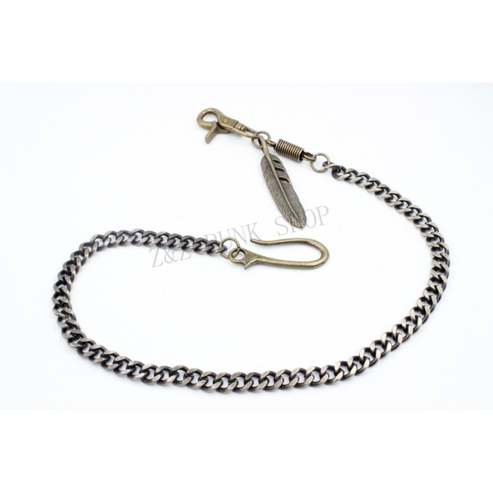 Jeans Chains with Feather