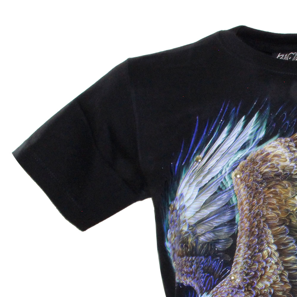 T-shirt Golden Eagle Effect 3D Glow in the Dark with Piercing