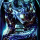T-shirt Dragon and Guitar Effect 3D and Noctilucent with Piercing
