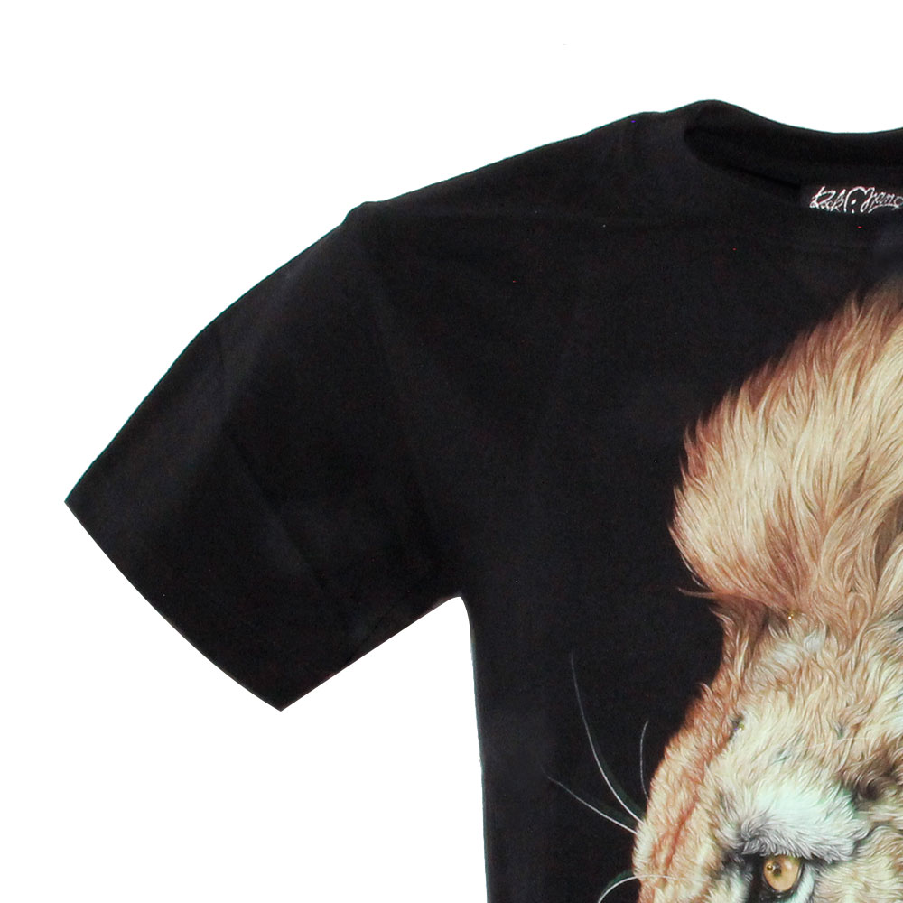 T-shirt Lion Effect 3D and Noctilucent with Piercing