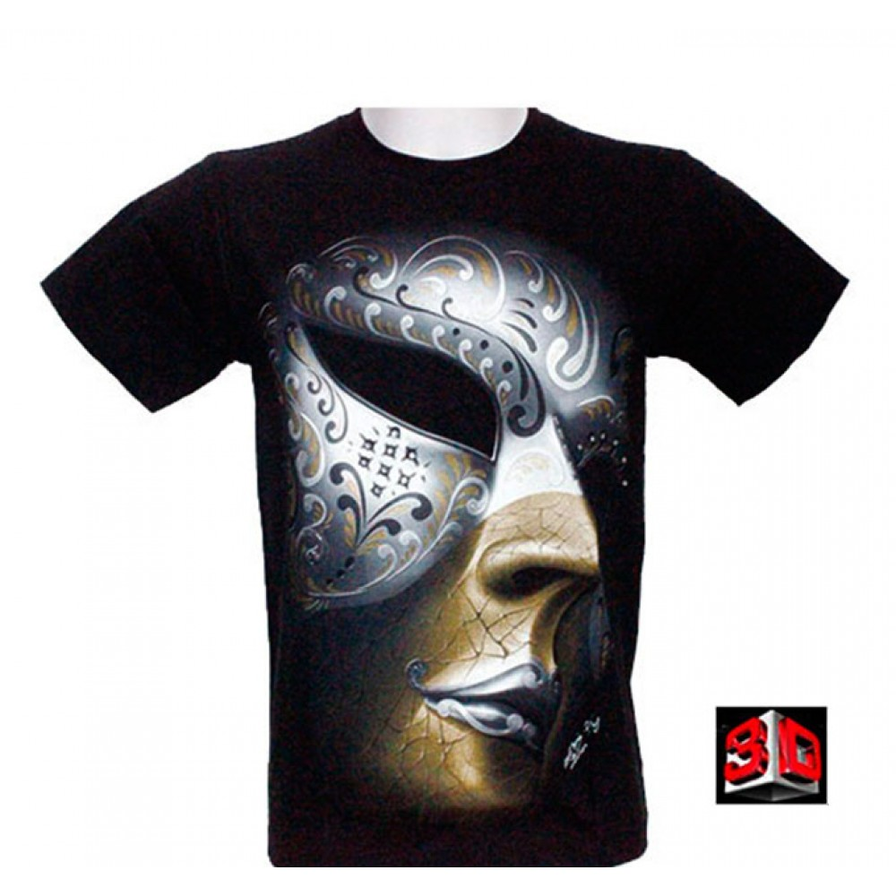 T-shirt Mask Effect 3D and Noctilucent with Piercing