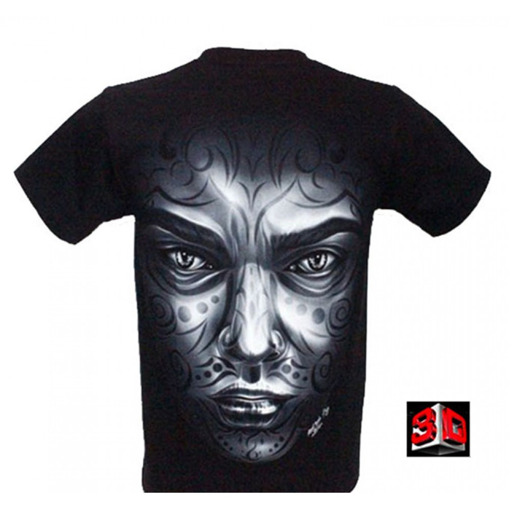 T-shirt Tattoo Effect 3D and Noctilucent with Piercing