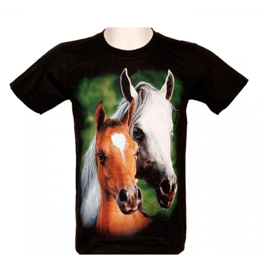 T-shirt Double Horses