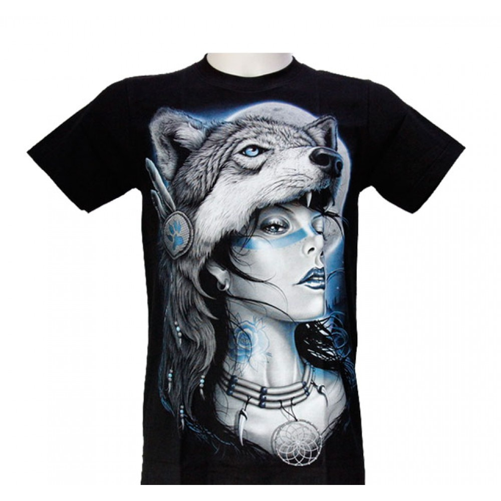 T-shirt Woman with Wolf Hat