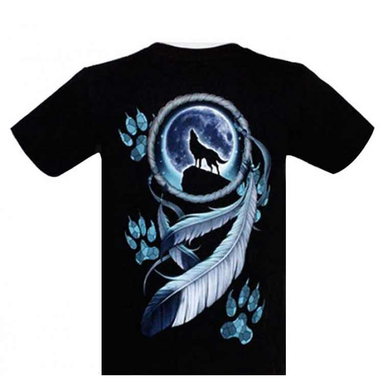 T-shirt Amulet with Wolves