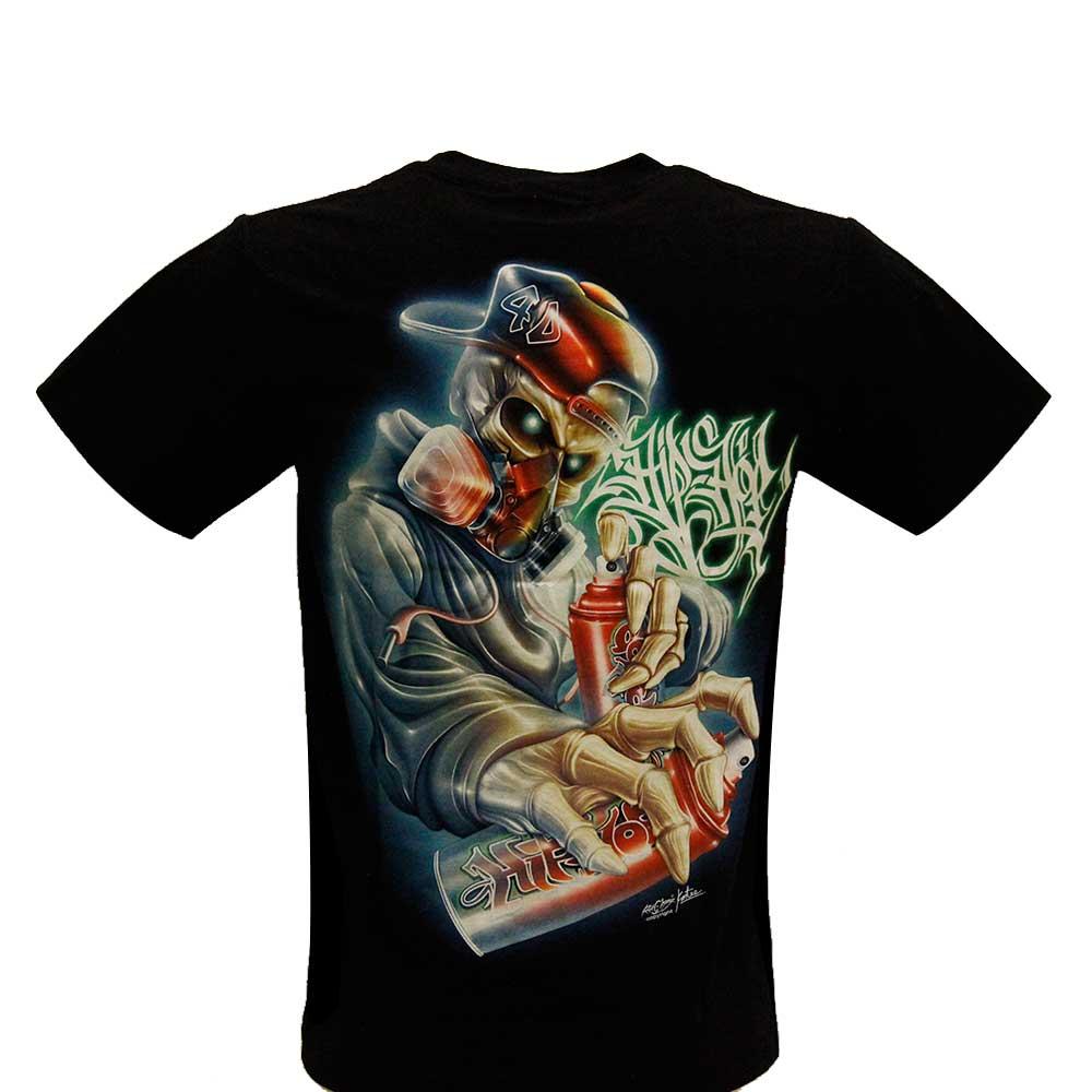 T-shirt 4D Graffiti with Piercing