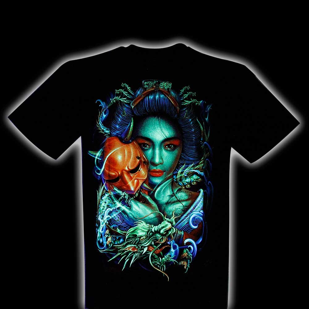 T-shirt 4D Geisha with Piercing