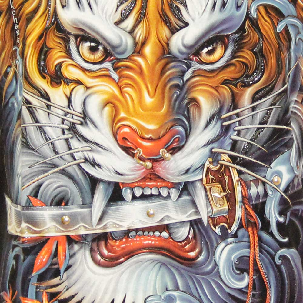 T-shirt 4D Tiger with Piercing