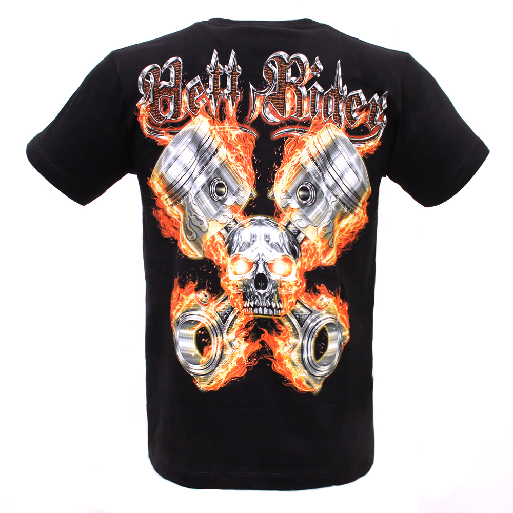 T-shirt F-HD Skull and Motorcycle