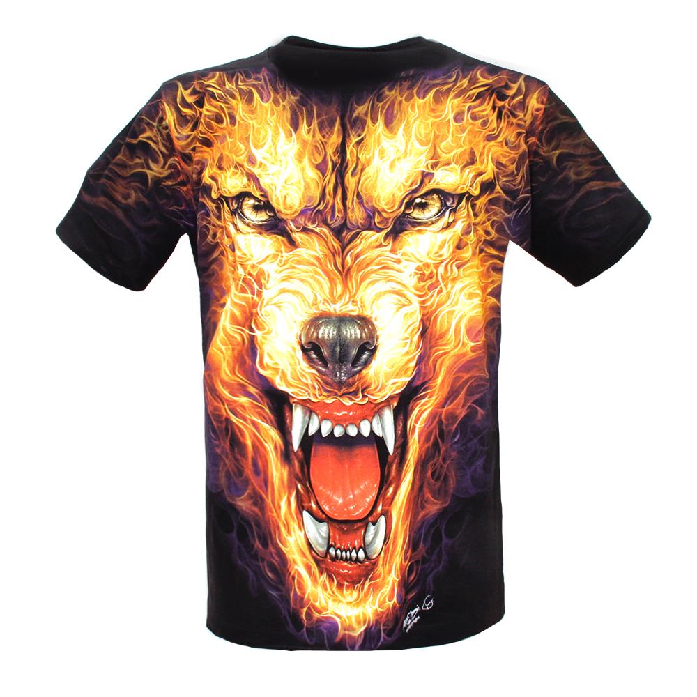 T-shirt F-HD Animal in Fire