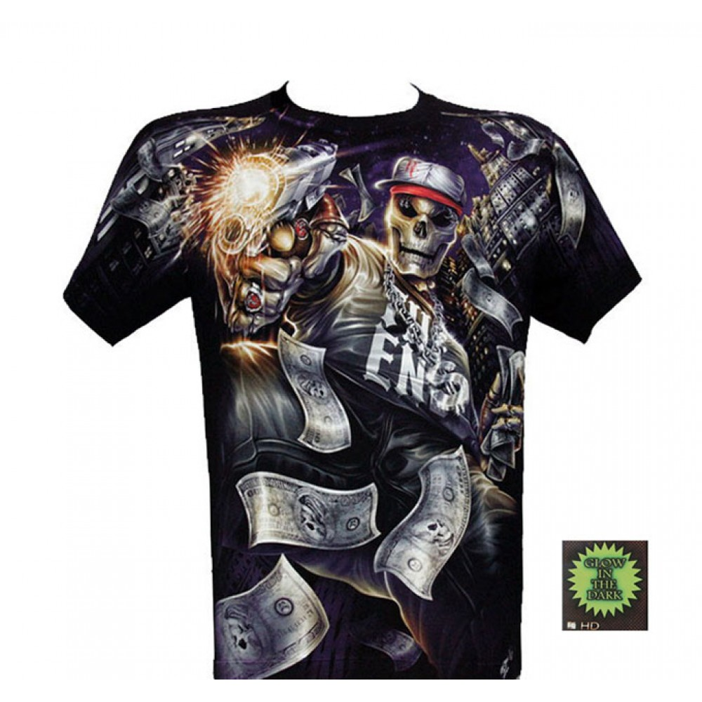 T-shirt F-HD Skeleton with Pistal