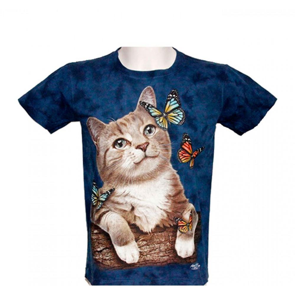 T-shirt Tie-Dye Cat