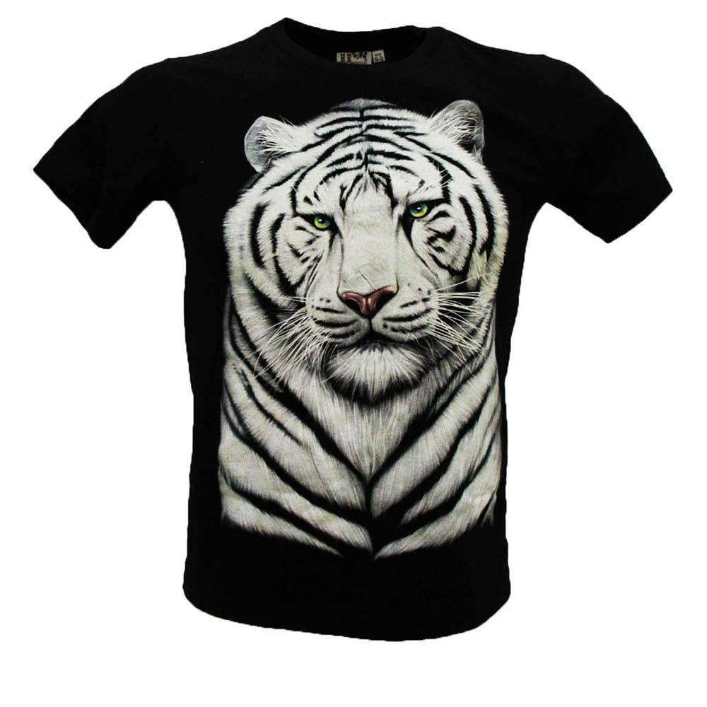 T-shirt Noctilucent White tiger