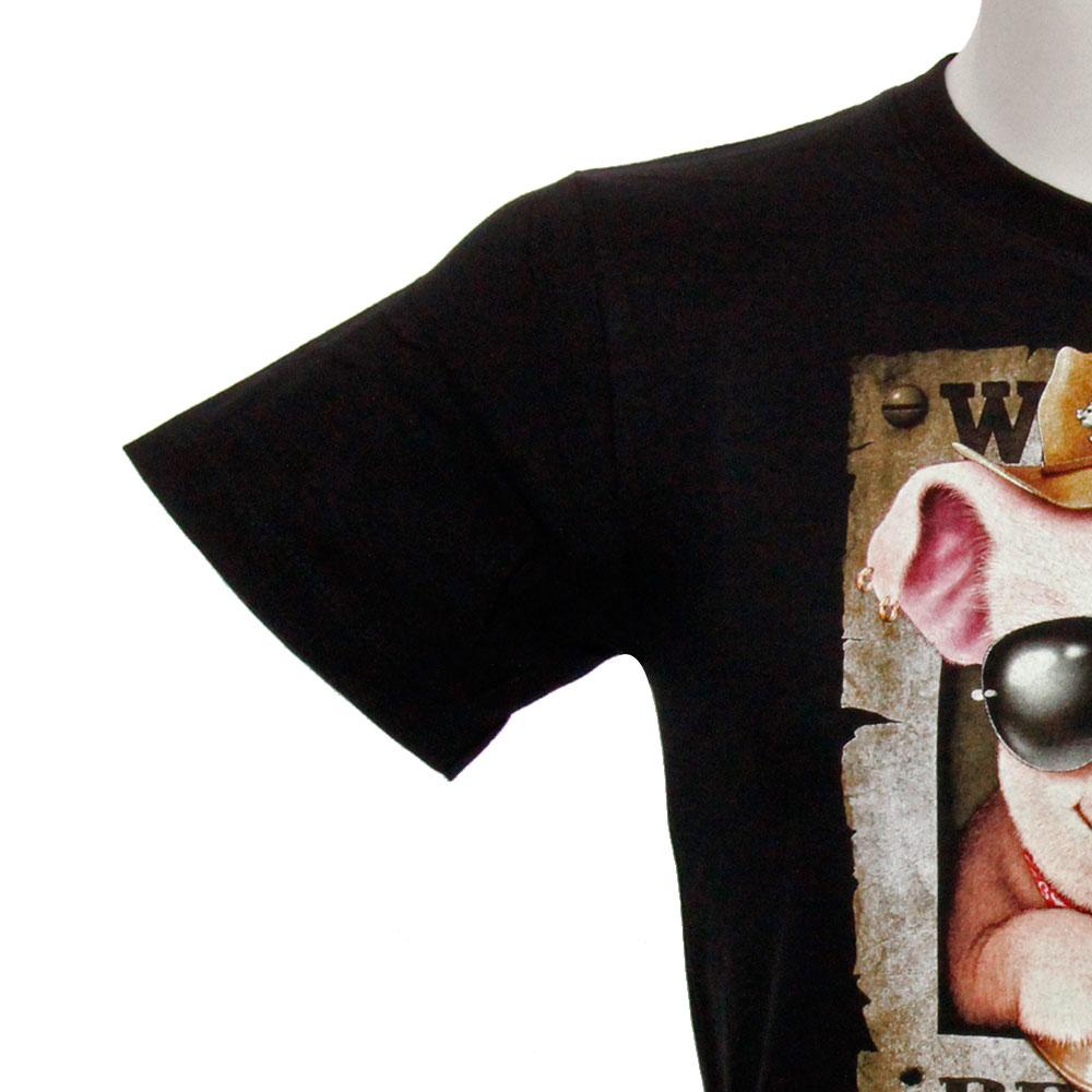 T-shirt Noctilucent Pig Kid