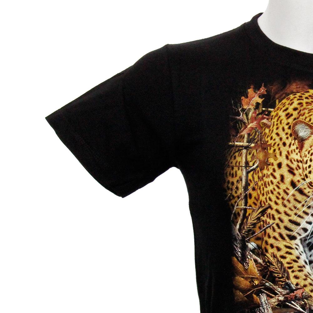 T-shirt Noctilucent Leopard Kid