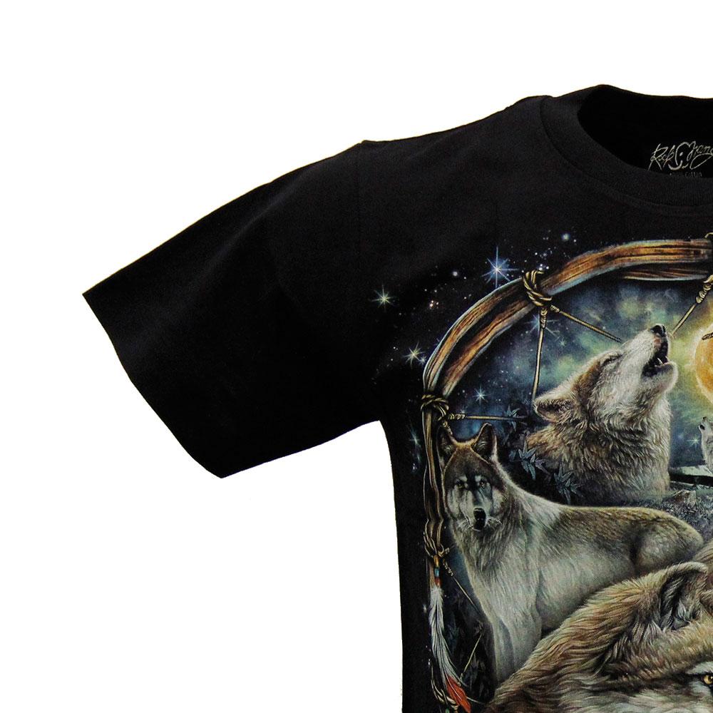 T-shirt Noctilucent Amulet with Wolves
