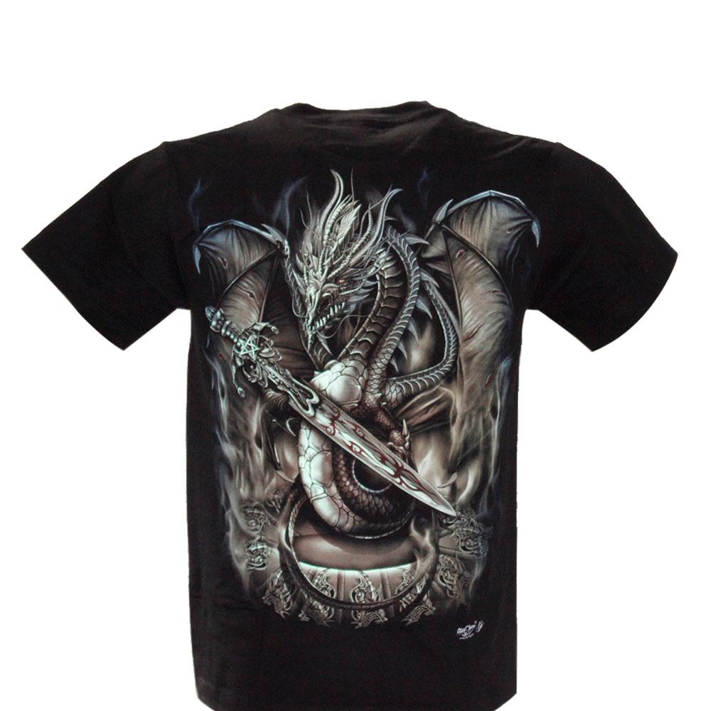 T-shirt Noctilucent Dreamcatcher with Grey Wolve