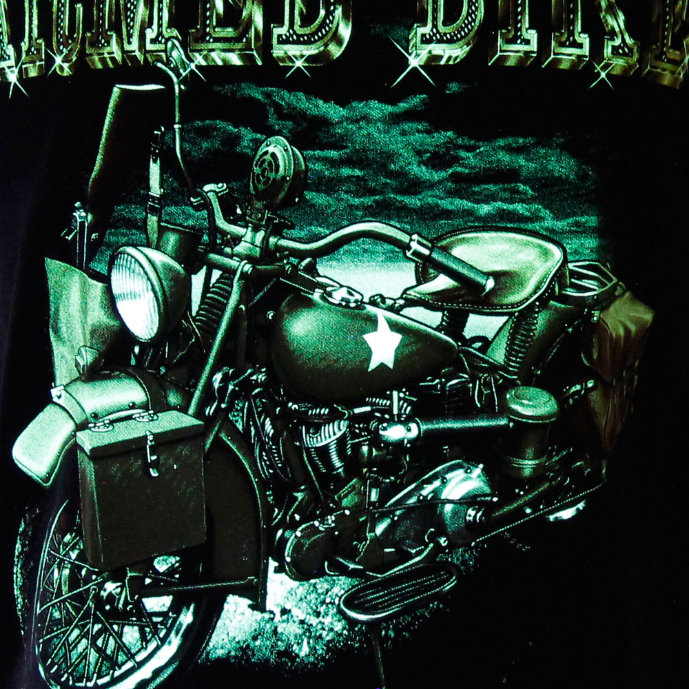T-shirt Noctilucent Armed Motorcycle