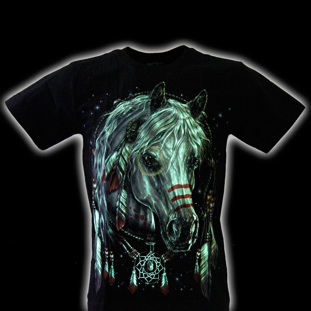 T-shirt Noctilucent Amulet with Horse