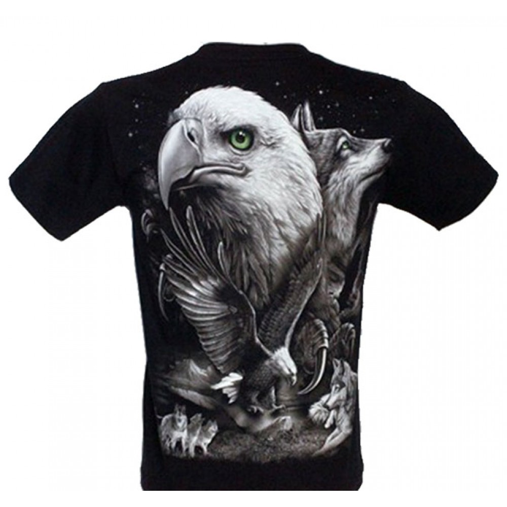 T-shirt Noctilucent Wolf with Eagle