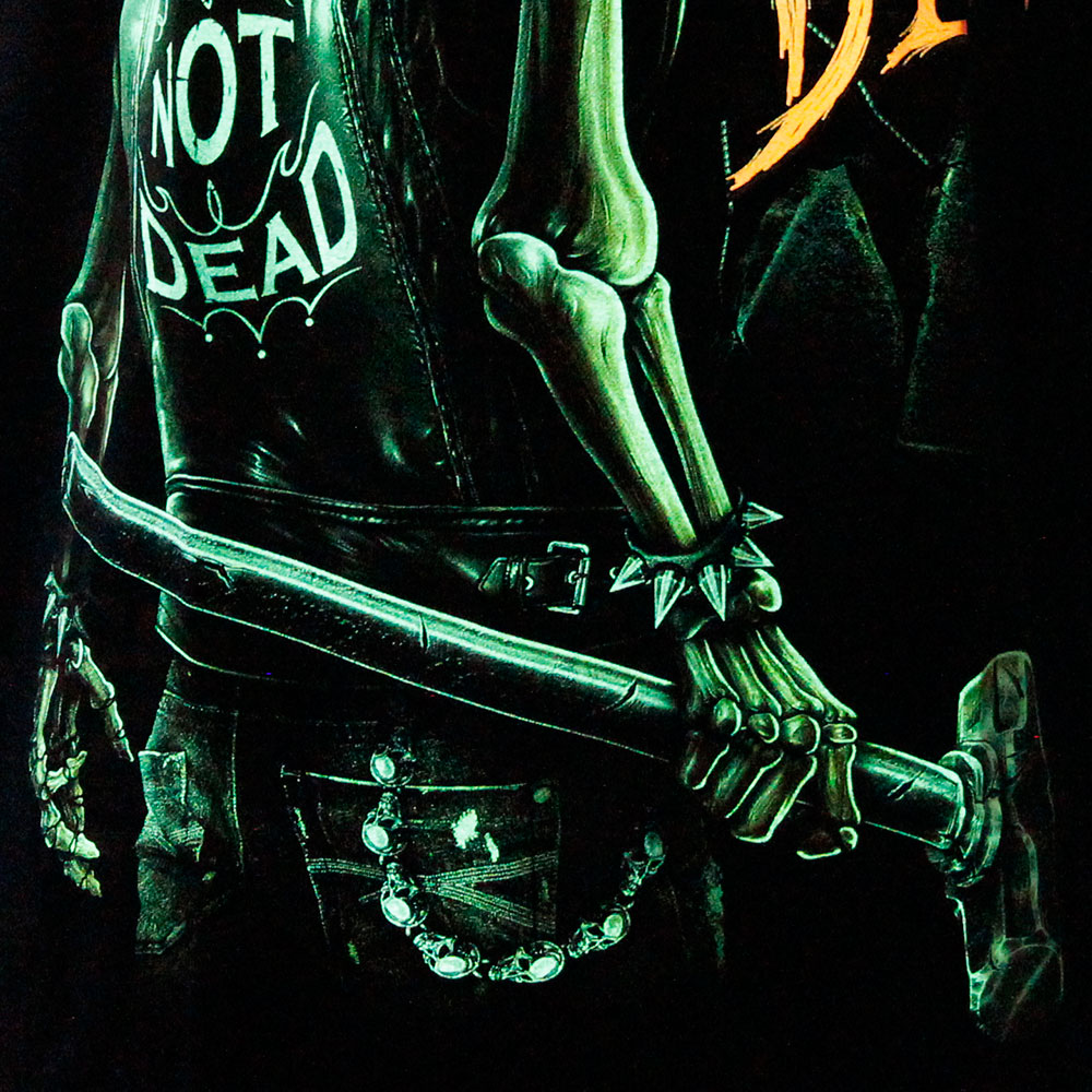 T-shirt Punk Skull Glow in the Dark