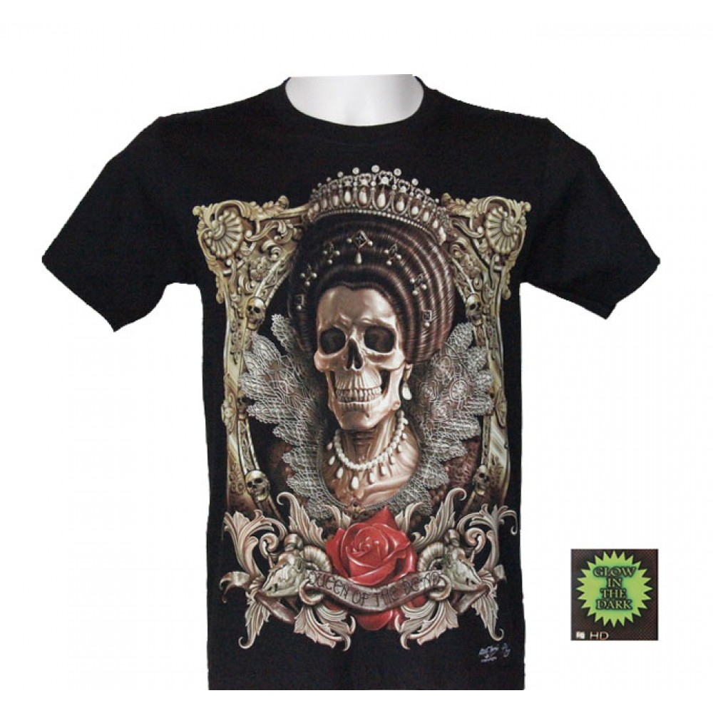 T-shirt Noctilucent Skull Queen