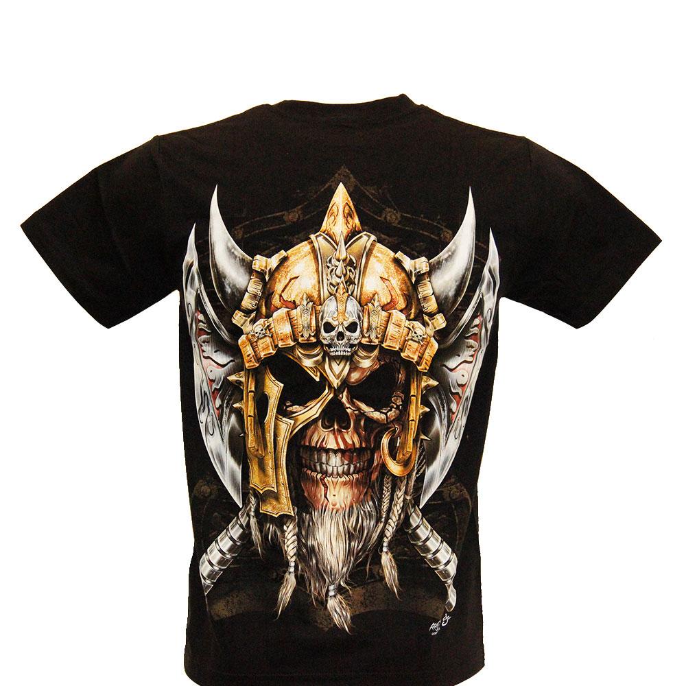 T-shirt Noctilucent Viking Skull