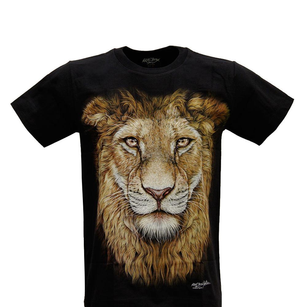 T-shirt Noctilucent Lion Head
