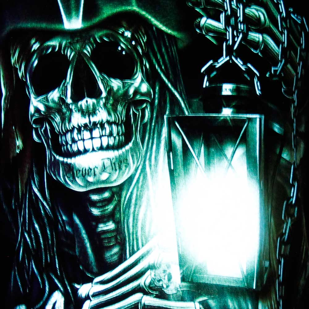T-shirt Noctilucent Skull with Lamp