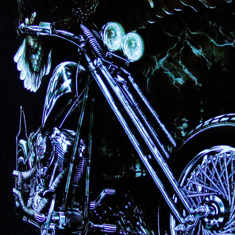T-shirt Noctilucent Eagle with Motorcycle
