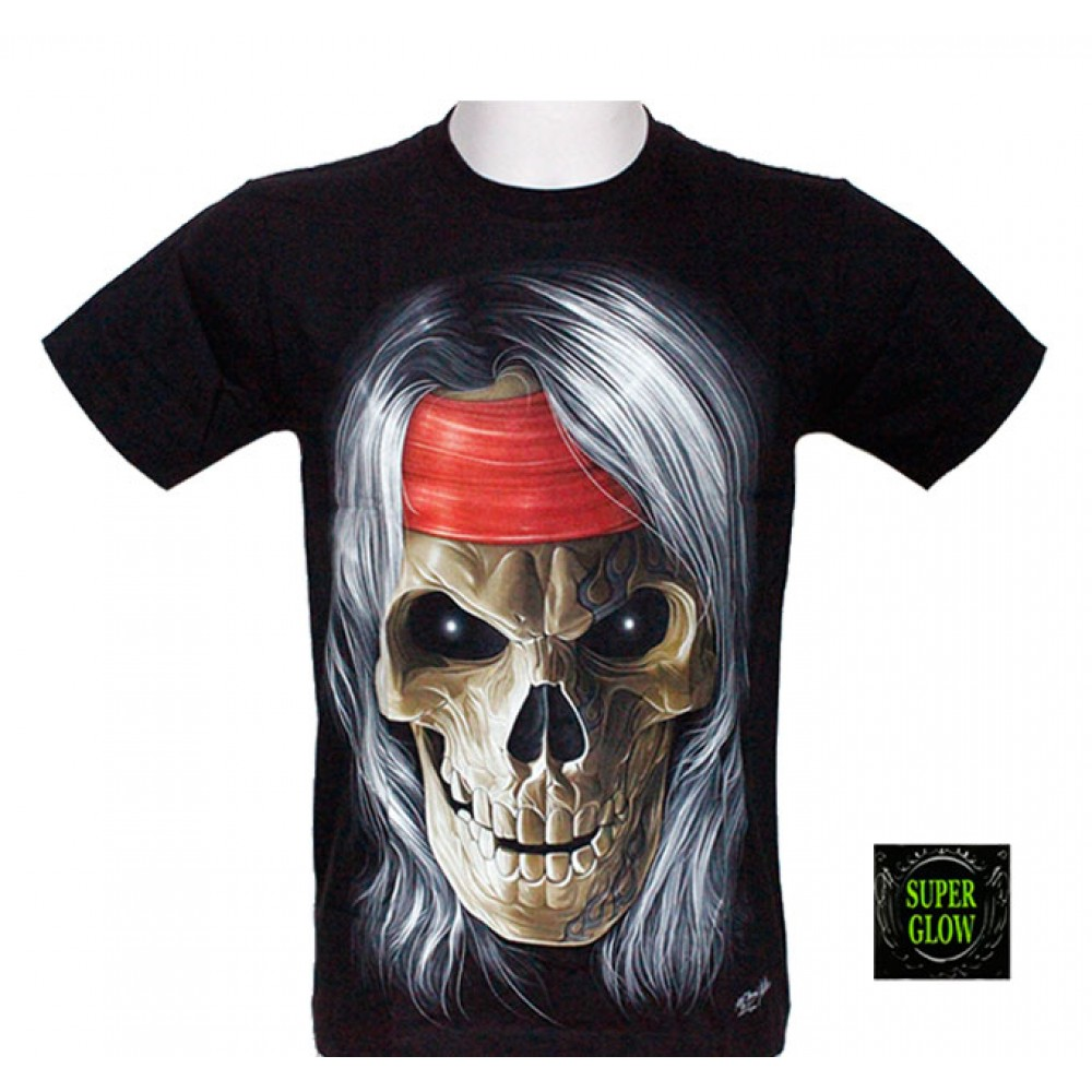 T-shirt Noctilucent Skull