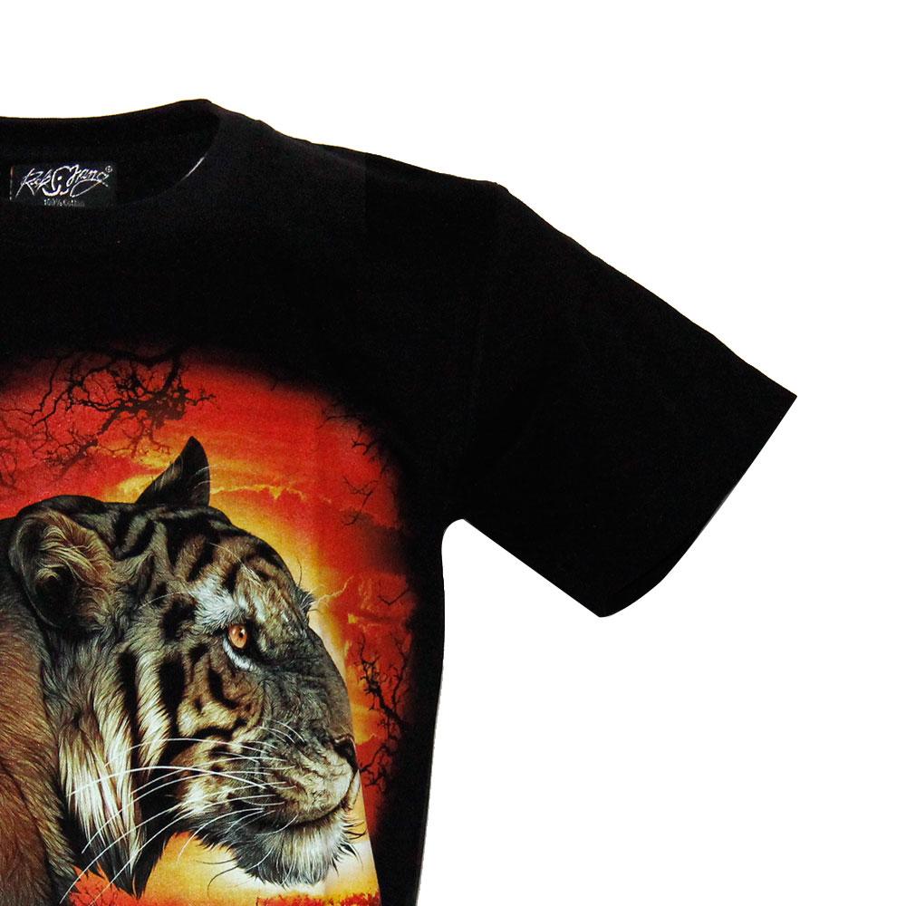 T-shirt Noctilucent  Tiger in sunset